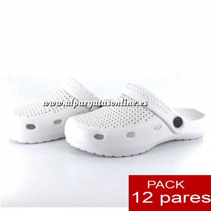 Imagen Zuecos tipo Crocs Zuecos tipo Crocs HOMBRE - Blanco - CAJA DE 12 UDS (Últimas Unidades)