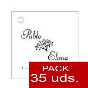 Imagen Etiquetas personalizadas Etiqueta Modelo C02 (Paquete de 35 etiquetas 4x4)