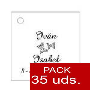 Imagen Etiquetas personalizadas Etiqueta Modelo D02 (Paquete de 35 etiquetas 4x4)