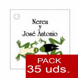 Imagen Etiquetas personalizadas Etiqueta Modelo D14 (Paquete de 35 etiquetas 4x4)