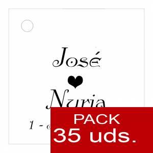 Etiquetas personalizadas - Etiqueta Modelo E02 (Paquete de 35 etiquetas 4x4)