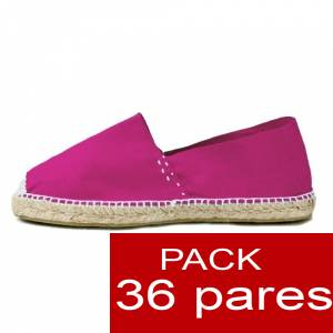 Mujer Colores Lisos - Alpargatas cerradas MUJER color FUCSIA - caja 36 pares (Últimas Unidades)