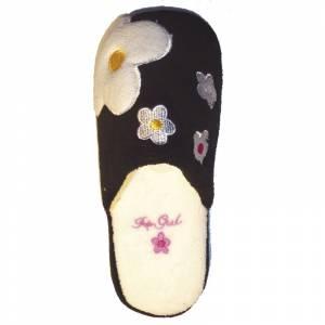 Imagen Negra PFLR Pantunfla flores mujer Negra Talla 38