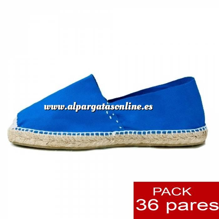 Imagen Mujer Cerradas Alpargatas cerradas MUJER color Azul Royal - caja 36 pares (Últimas Unidades)