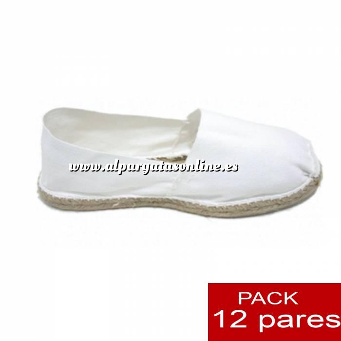 Imagen Para Niño Alpargatas Niño color BLANCO LOTE de 12 uds (tallas 28-34)