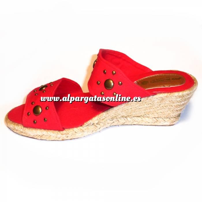 Imagen Rojo VALREM Y104511-S Alpargata Remaches Rojo Talla 36