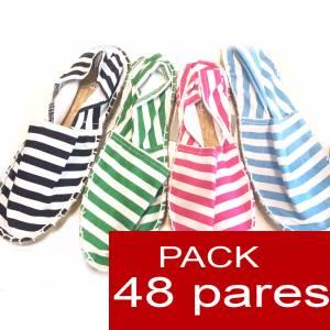 Cerradas mujer - Alpargatas cerradas 4 colores marineras caja 48 pares (�ltimas Unidades)