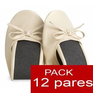 Enrollables - Manoletinas Bailarinas plegables / enrollables BEIGE - lotes de 12 pares
