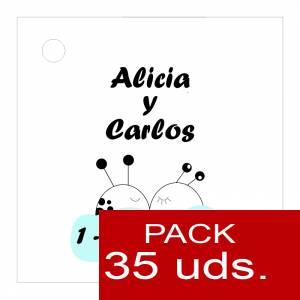 Etiquetas impresas - Etiqueta Modelo A08 (Paquete de 35 etiquetas 4x4)