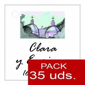 Etiquetas impresas - Etiqueta Modelo D07 (Paquete de 35 etiquetas 4x4)