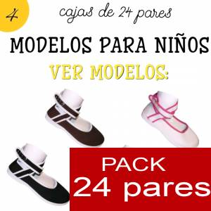 Imagen Modelos para Niños Manoletinas NIÑO-NIÑA MARRÓN atadas al tobillo Caja de 24 pares (Últimas Unidades)