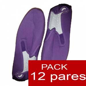 Otras Modelos - Manoletinas Zapatillas de TELA MORADA Lote de 12 pares (�ltimas Unidades)