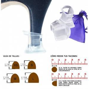 Protectores de Tacón - Protector tacón CUADRADO L (1.1 cms - 1.4 cms) - Cubretacon (1 par)